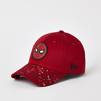 Boys New Era red Spiderman hat