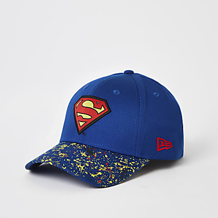 Boys New Era blue Superman hat