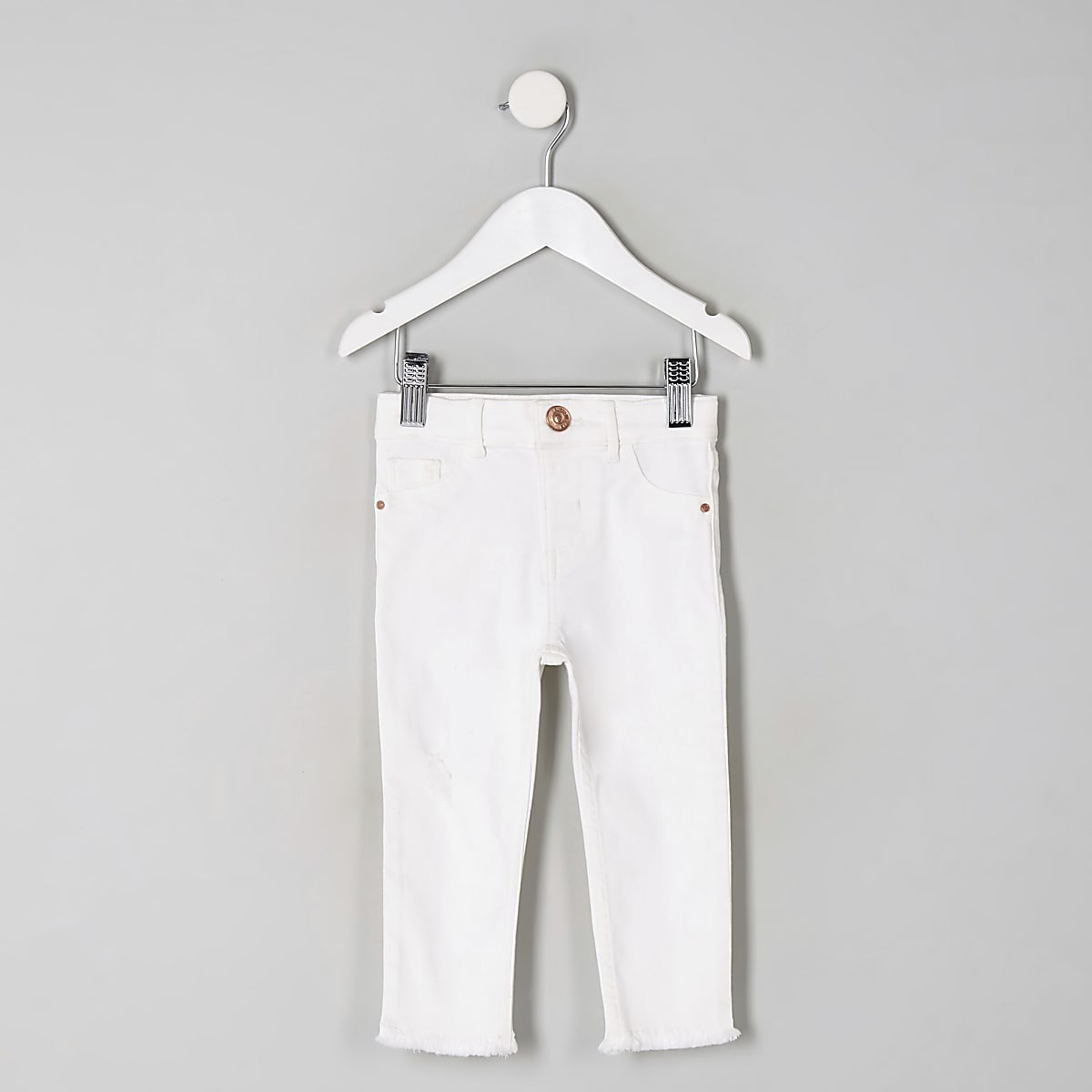 Mini girls white Molly jeggings