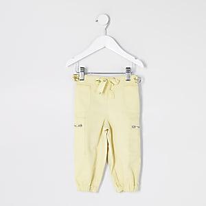 Pantalon utilitaire jaune Mini fille