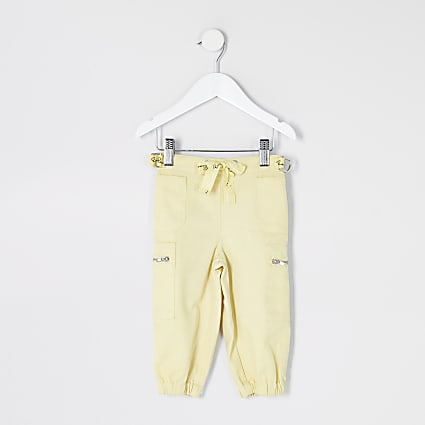 Mini girls yellow utility trousers