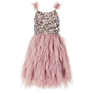 Liberated Folk – Rosa Kleid mit Pailletten für Mädchen