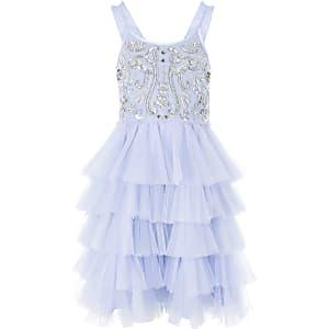 Liberated Folk – Blaues Ballett-Kleid mit Pailletten für Mädchen