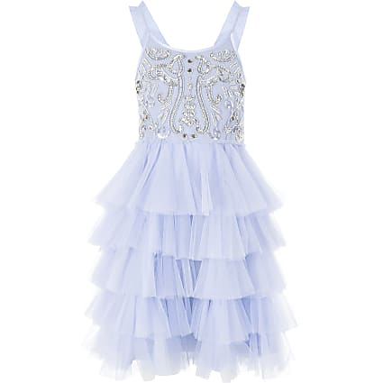 Girls Liberated Folk blue tutu sequin dress