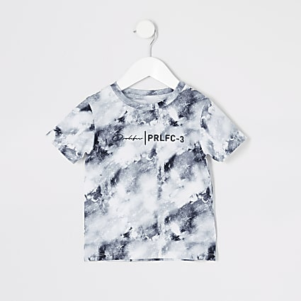Mini boys white marble Prolific T-shirt