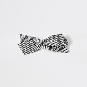 Silberne Haarspange mit strassbesetzter Schleife für Mädchen