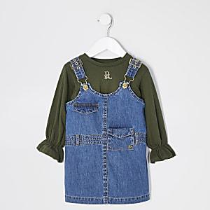 Mini – Utility-Pinafore-Kleid-Outfit für Mädchen