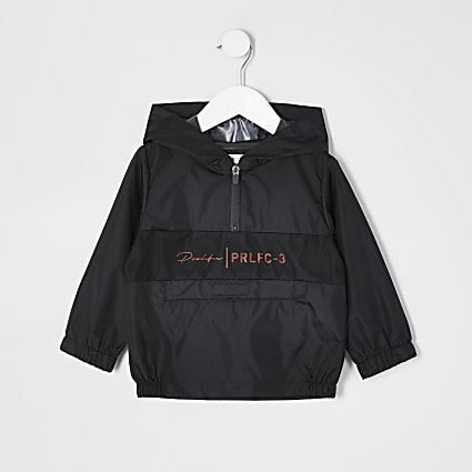 Mini boys black Prolific pack away jacket