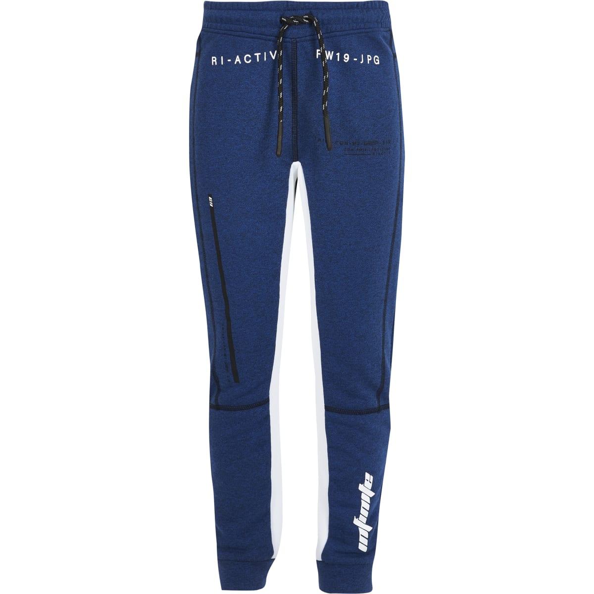 RI Active – Pantalon de jogging bleu à empiècementspour garçon