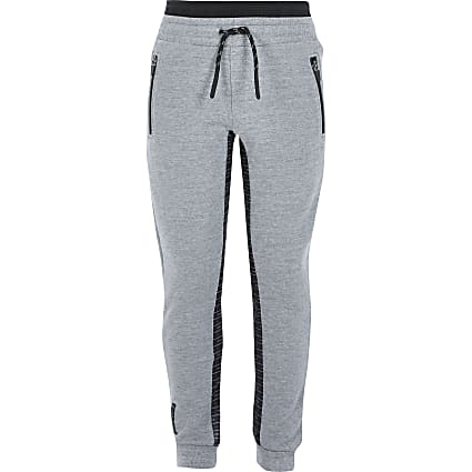 Boys RI Active grey panelled joggers