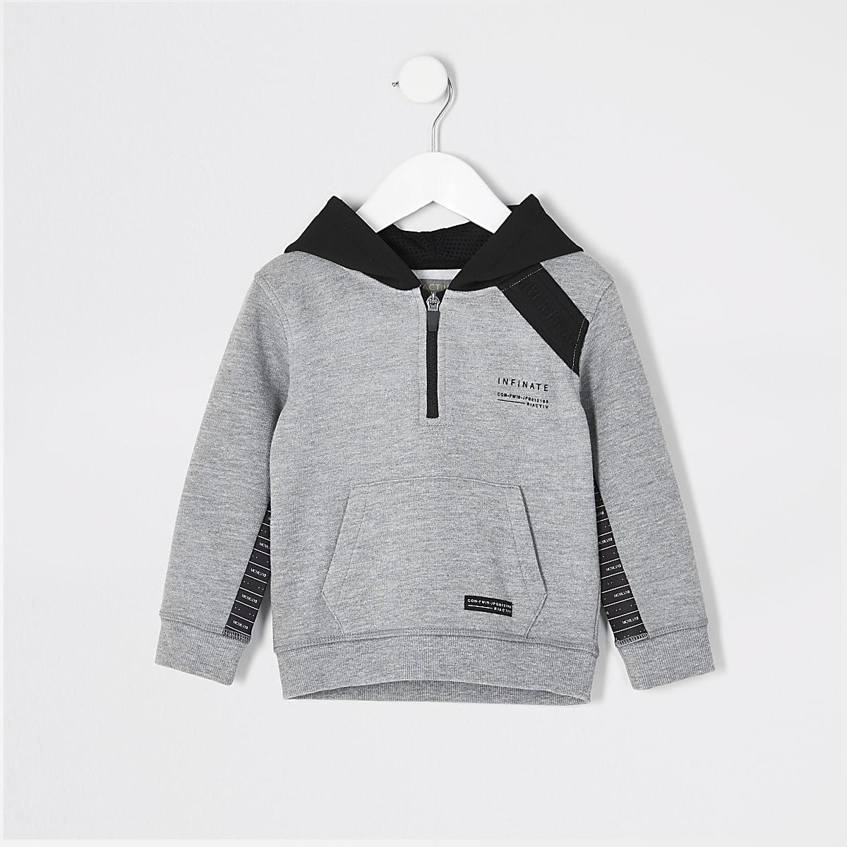 Mini boys RI Active grey tape hoodie