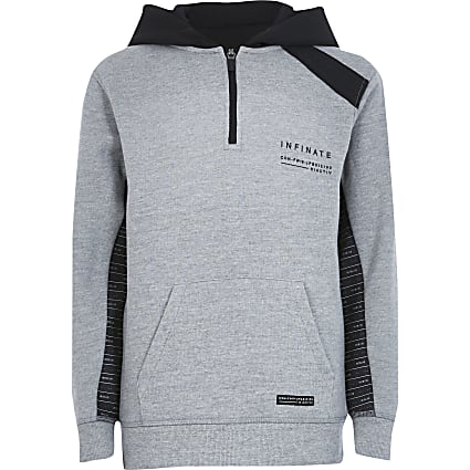Boys RI Active grey tape hoodie