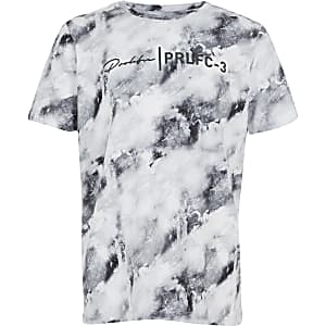 Boys blue marble printed Prolific T-shirt