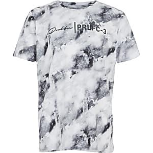 Blauwmarmeren T-shirt met Prolific-print
