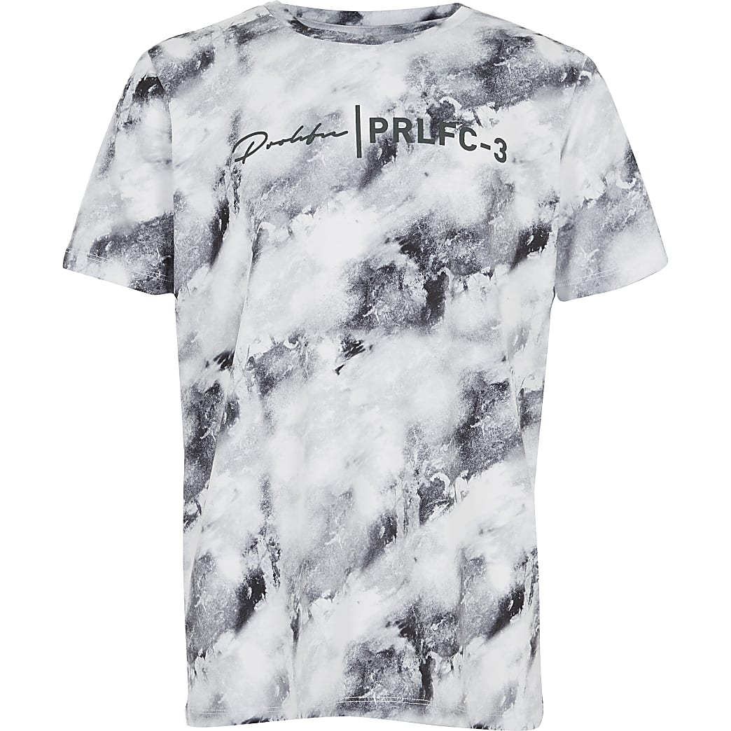 Boys blue marble printed Prolific T-shirt