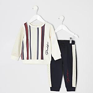 Mini - Prolific - Outfit met kiezelkleurig sweatshirt voor jongens