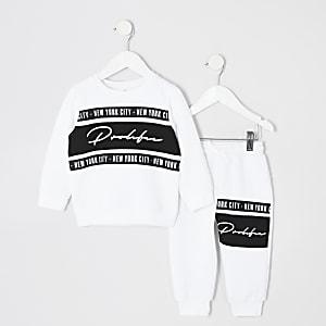 Mini - Prolific - Outfit met wit sweatshirt voor jongens