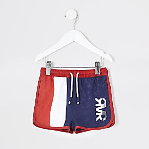 Mini - Marineblauwe gestreepte RVR zwemshorts voor jongens