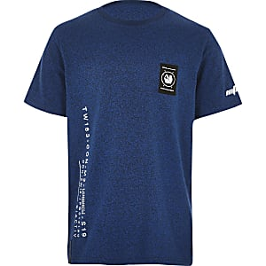 RI Active – Blaues, bedrucktes T-Shirt für Jungen