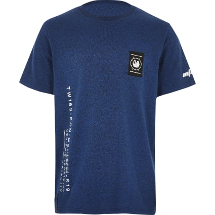 Boys RI Active blue printed T-shirt