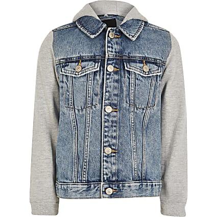 Boys blue Prolific hooded denim jacket