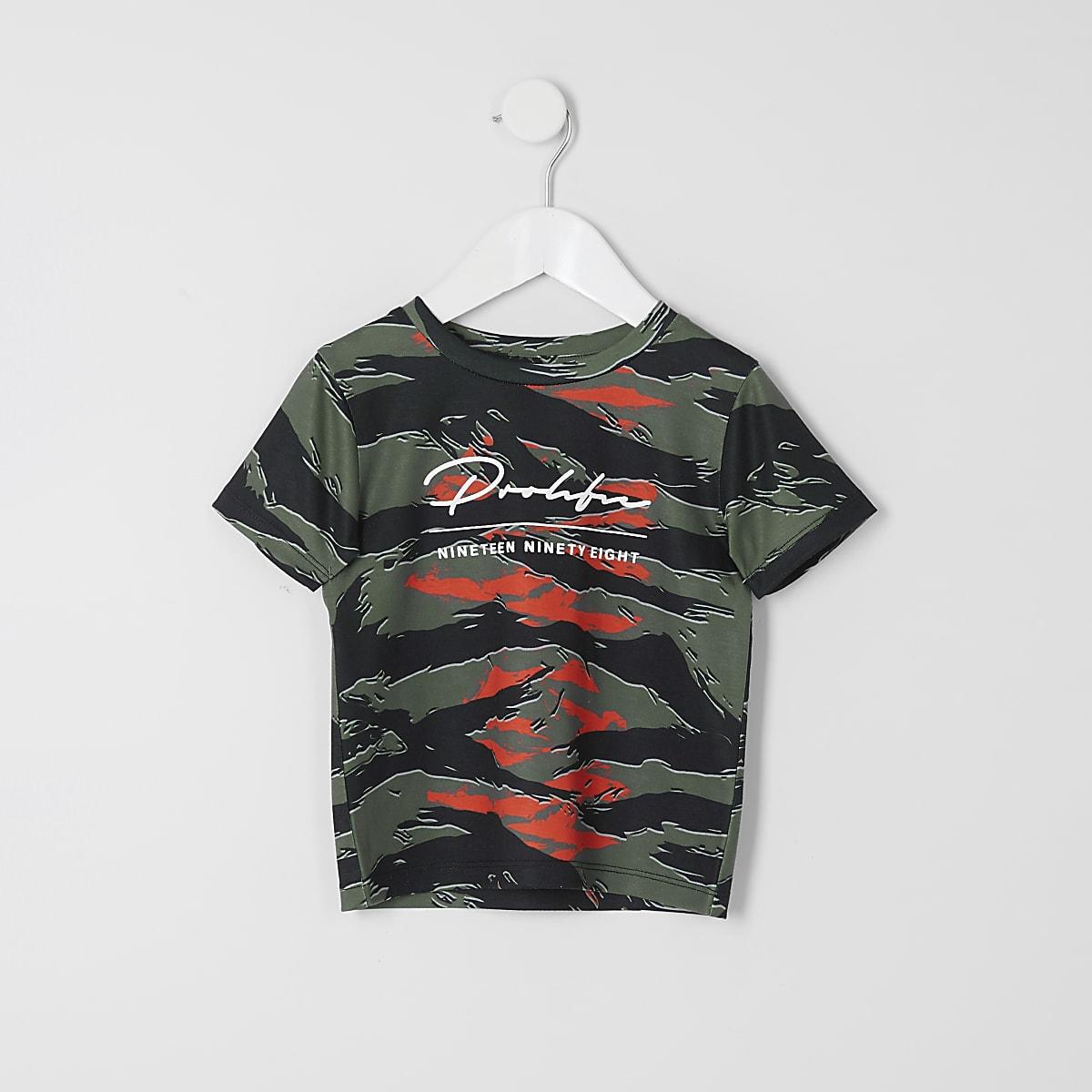 Mini boys khaki camo Prolific T-shirt
