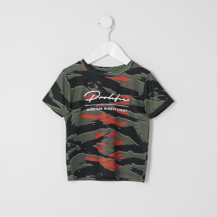 Mini boys khaki camo Prolific T-shirt