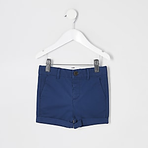 Mini - Marineblauwe chino short voor jongens