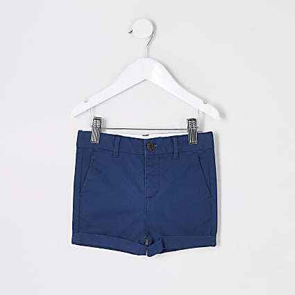 Mini boys navy chino shorts