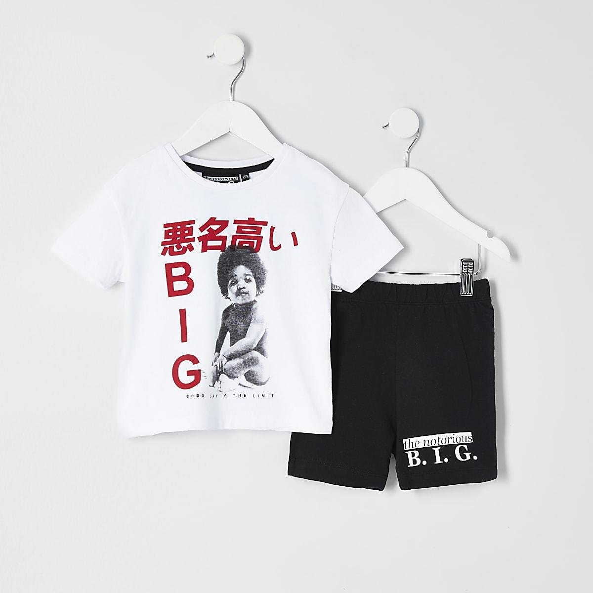 Mini boys B.I.G print pyjama outfit