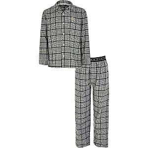 Pyjama RI grisà carreaux pour garçon