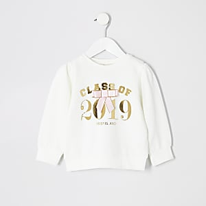 Sweat blanc « Class of 2019 » Mini fille