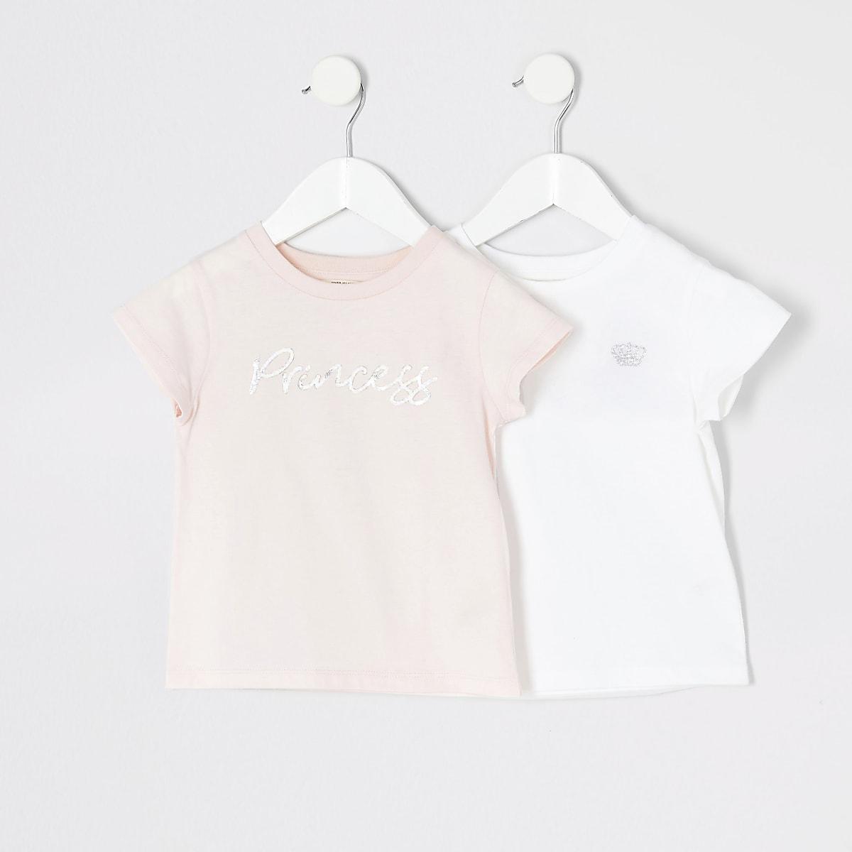 Mini - Roze 'Princess' T-shirt set van2 voor meisjes