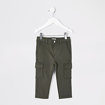 Mini boys khaki utility trousers