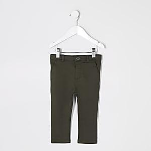 Pantalon habillé kaki mini garçon