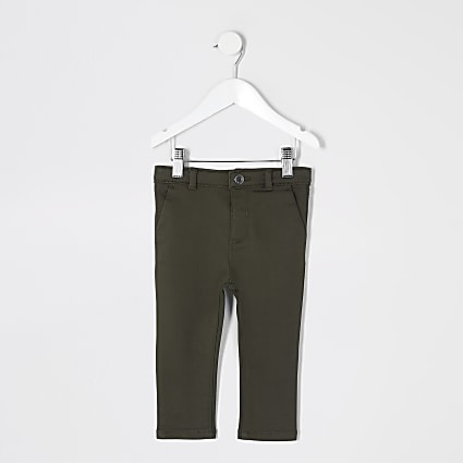 Mini boys khaki smart trousers