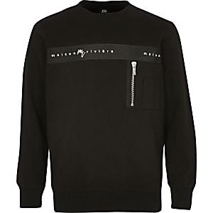 Zwart sweatshirt met 'Maison Riviera'-print voor jongens