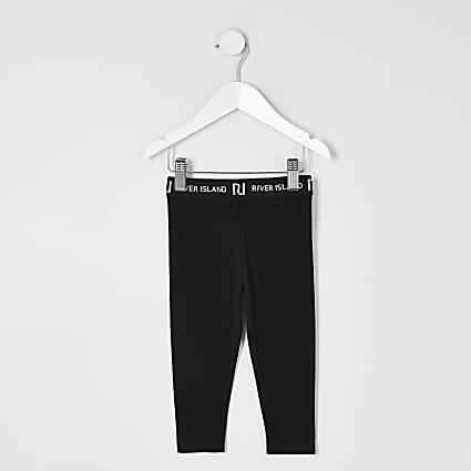 Mini girls black leggings