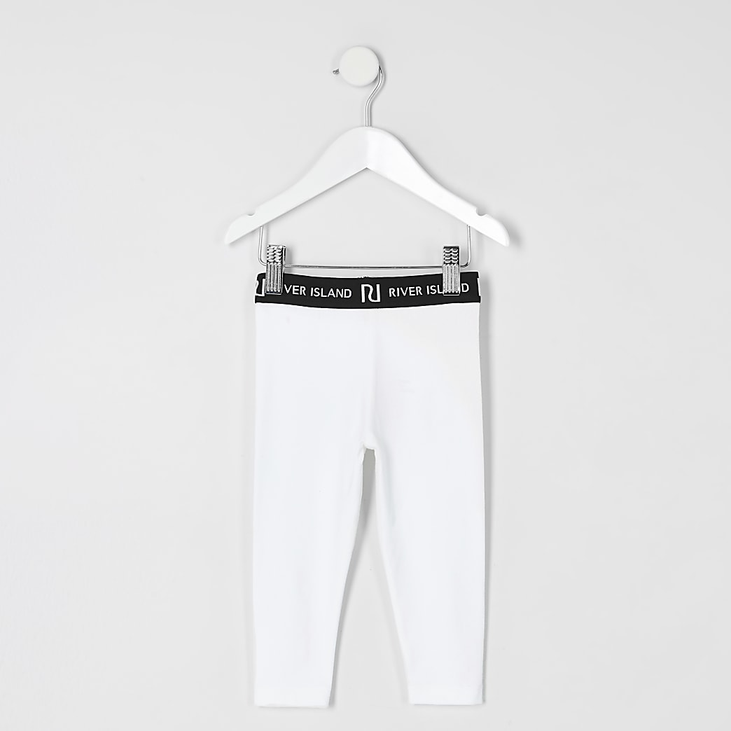 Mini - Witte legging voor meisjes