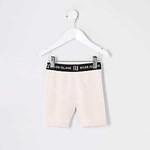 Short cycliste rose Mini fille