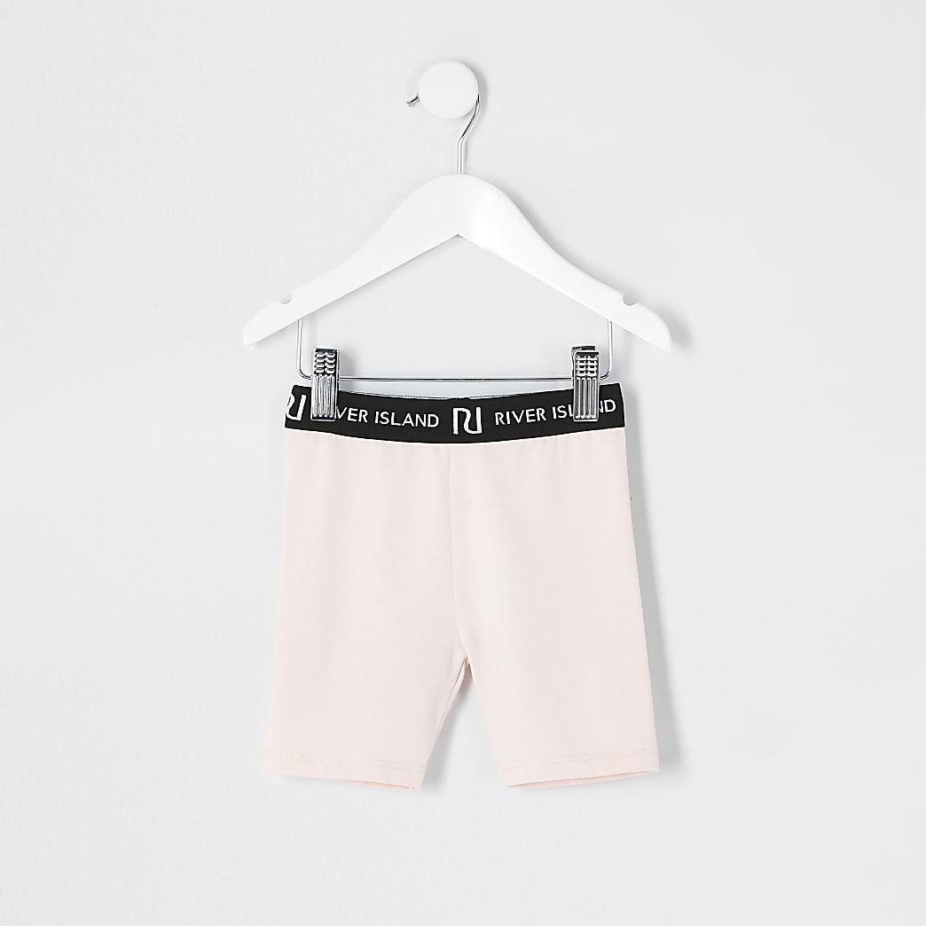 Mini girls pink cycling shorts