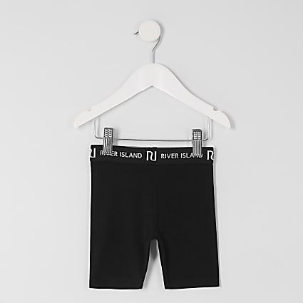 Mini girls black RI cycling shorts