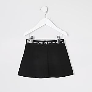 Mini – Schwarzes Skater-Hemd für Mädchen