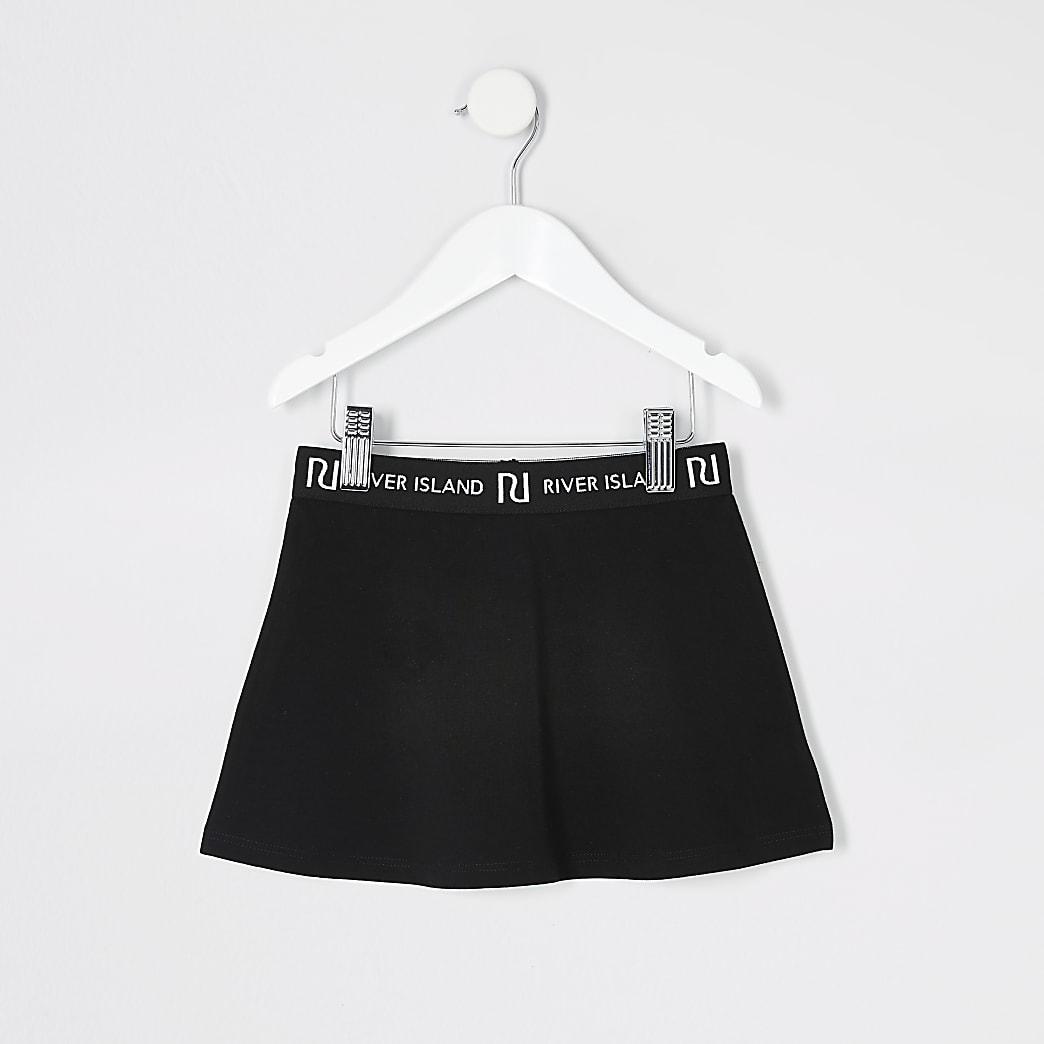 Mini girls black skater skirt