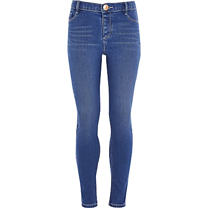 Bright blue Molly skinny jeggings