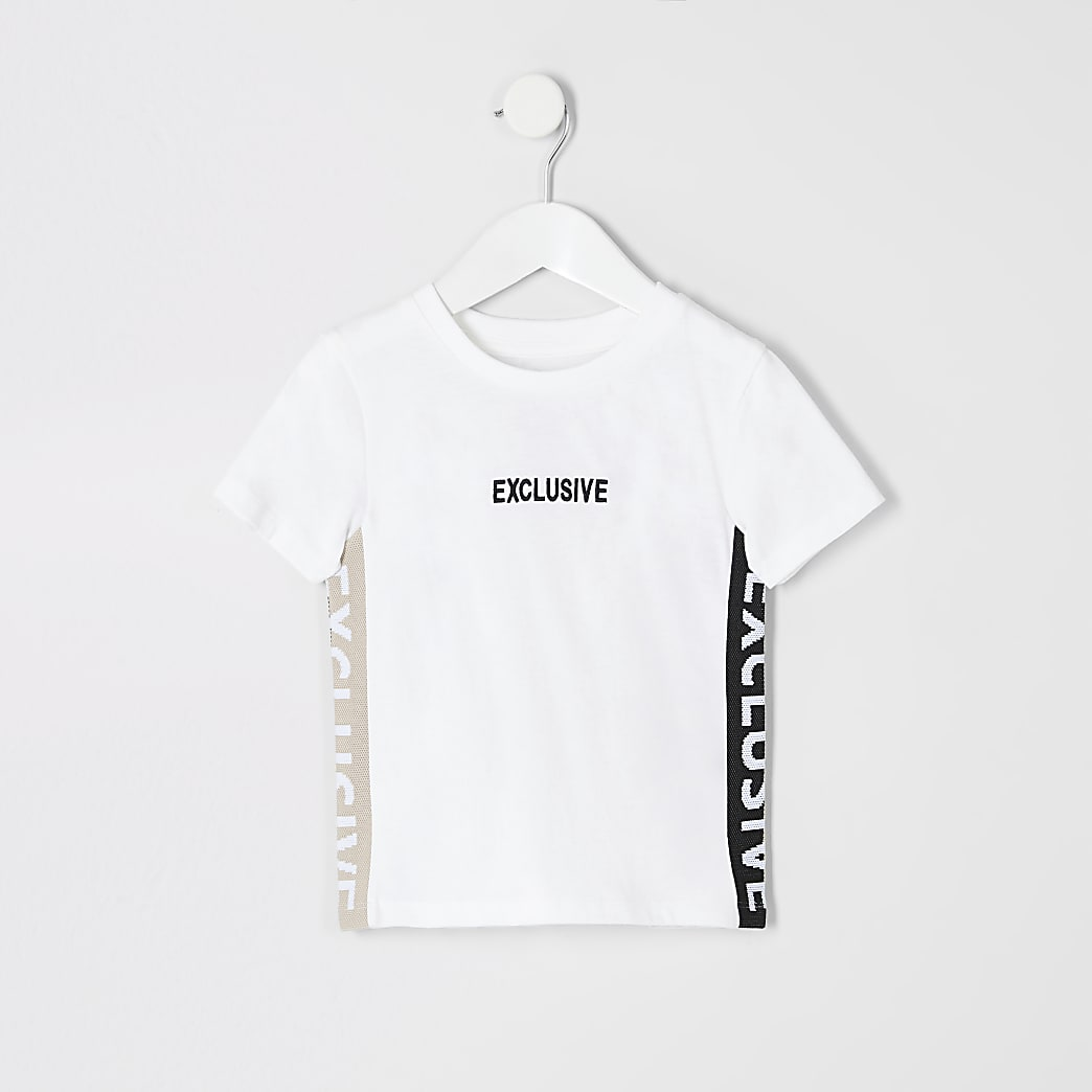 T-shirt blanc « Exclusive » Mini garçon
