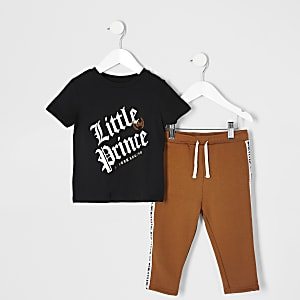 Mini - 'Little prince' T-shirt outfit voor jongens