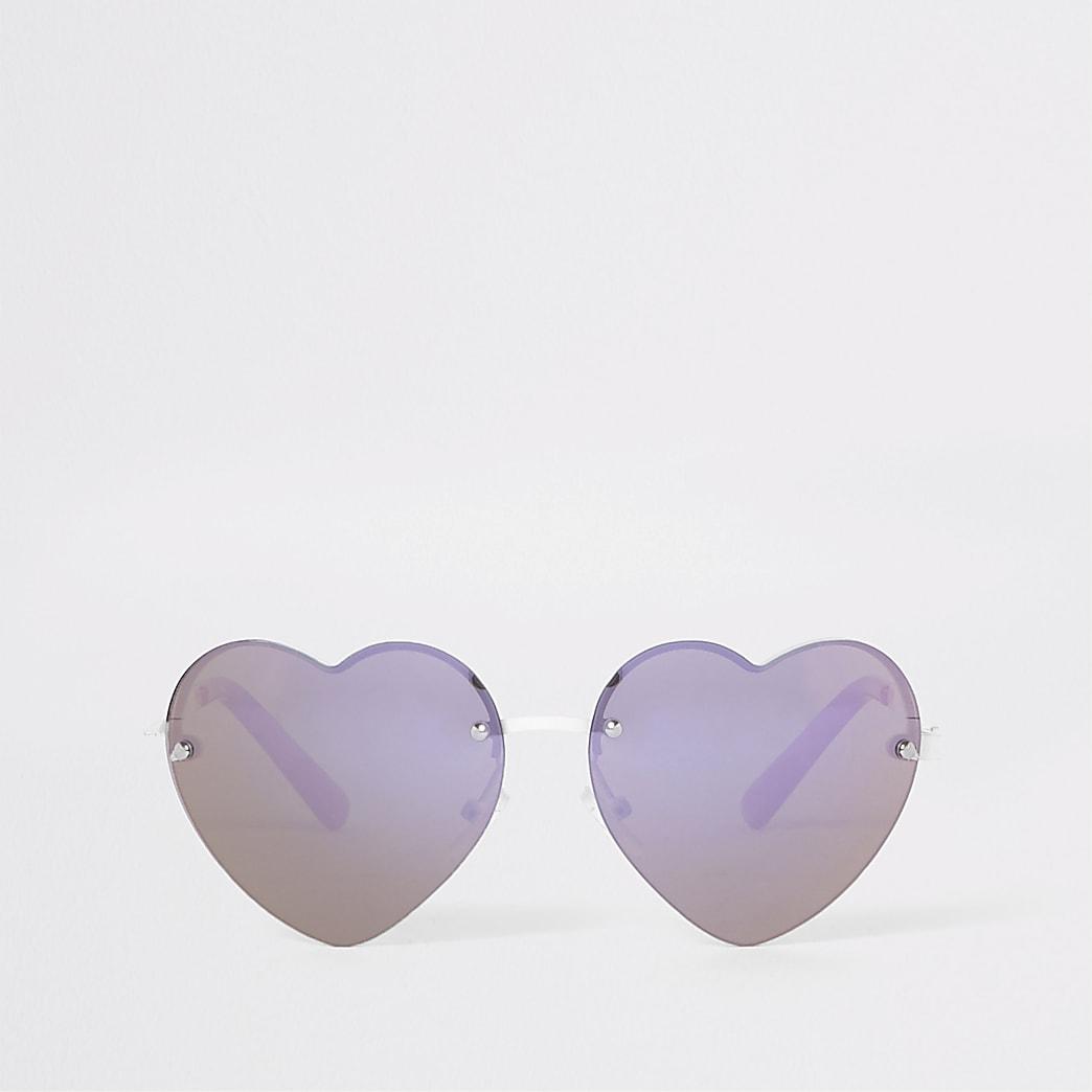 Roze hartvormige zonnebril voor meisjes