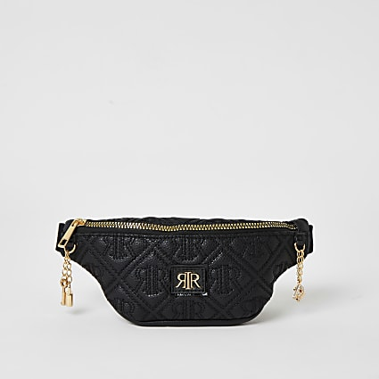 Black RIR embossed bumbag