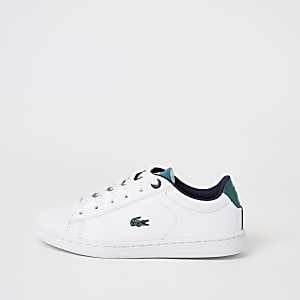 Lacoste – Baskets blanches à lacets pour garçon